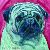 Pug Dog Art, Original Painting - Ranlett - $95.00