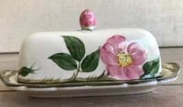 "Vintage Franciscan Desert Rose 7.5"" Covered Butter Dish California - $30.68"