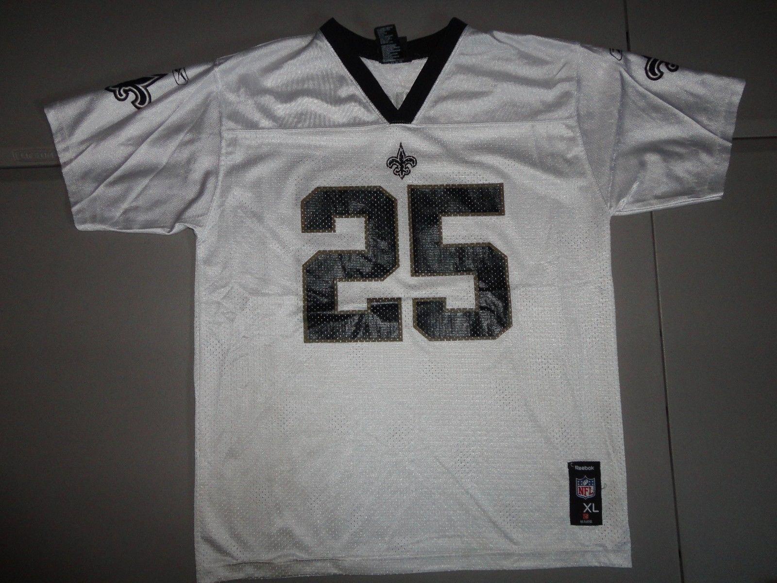57. 57. Previous. White  25 Reggie Bush New Orleans Saints NFL FOOTBALL  Screen Jersey Youth XL · White  25 ... 040b13364