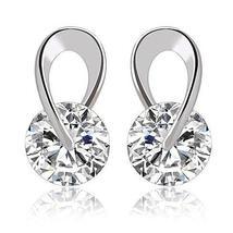 Swarovski Silver Swirl Earrings - $13.99