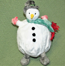 "Commonwealth Bean Bag SNOWMAN Christmas Plush 10"" Roly Poly Round 2000 S... - $23.38"
