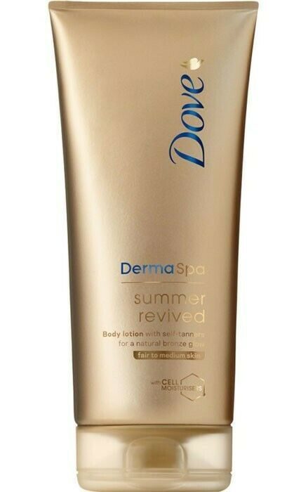 Dove DermaSpa Summer Revived Lotion Fair 200 ml x 4 Nos.