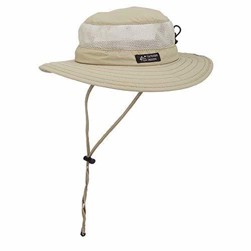 Dorfman Pacific Men's Boonie Mesh Sides Hat Large, Khaki