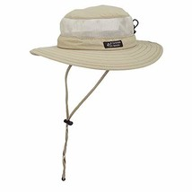 Dorfman Pacific Men's Boonie Mesh Sides Hat Large, Khaki - $28.96