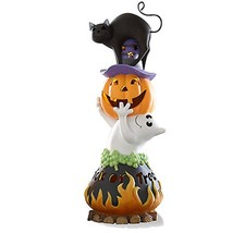 Lenox Halloween Trick or Treat Lighted Figurine Black Cat Ghost Cauldron... - $98.00