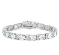 Lily Oval Cubic Zirconia Tennis Bracelet – 7.5in | 28ct - $65.95