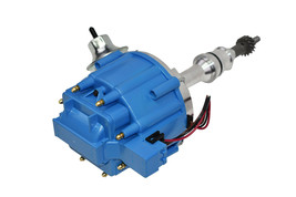 SBF Ford 260 289 302 302W V8 Coil Hei Distributor 50000 50K Volt w/ Blue Cap image 2