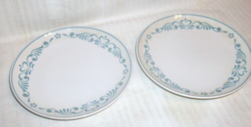Franciscan BLUE FANCY Bread Plates Lot of 2