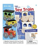 MasterPieces Works of Ahhh Choo Choo Train Set Wood Paint Kit - $15.06