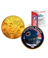 CHICAGO BEARS NFL 24K Gold Plated IKE Dollar US Coin *OFFICIALLY LICENSED* - ₹738.75 INR