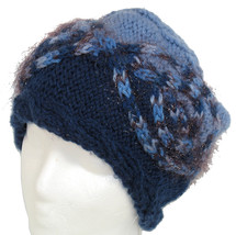 Too blue sparkle cable hand knit hat - $24.00