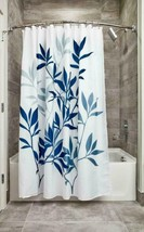 Interdesign Leaves Fabric Shower, Modern Mildew-Resistant Bath Curtain F... - $24.99+