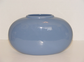 Haeger Pottery MidCent Blue Terracotta Pillow Vase - $16.99