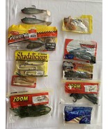 Rubber FISHING LURE BAIT Lot Worms Slugs Crawdads Hooks Power Bait New* ... - $23.75