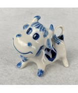 """Vintage Delft Hand Painted Blue and White Cow Collectible Display 2-3/4"""" - $10.88"""