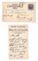 UX5 1876 Phila PA Fancy Cork Cancel Henry Lang Newark John Rockey Hides Leather - $9.95