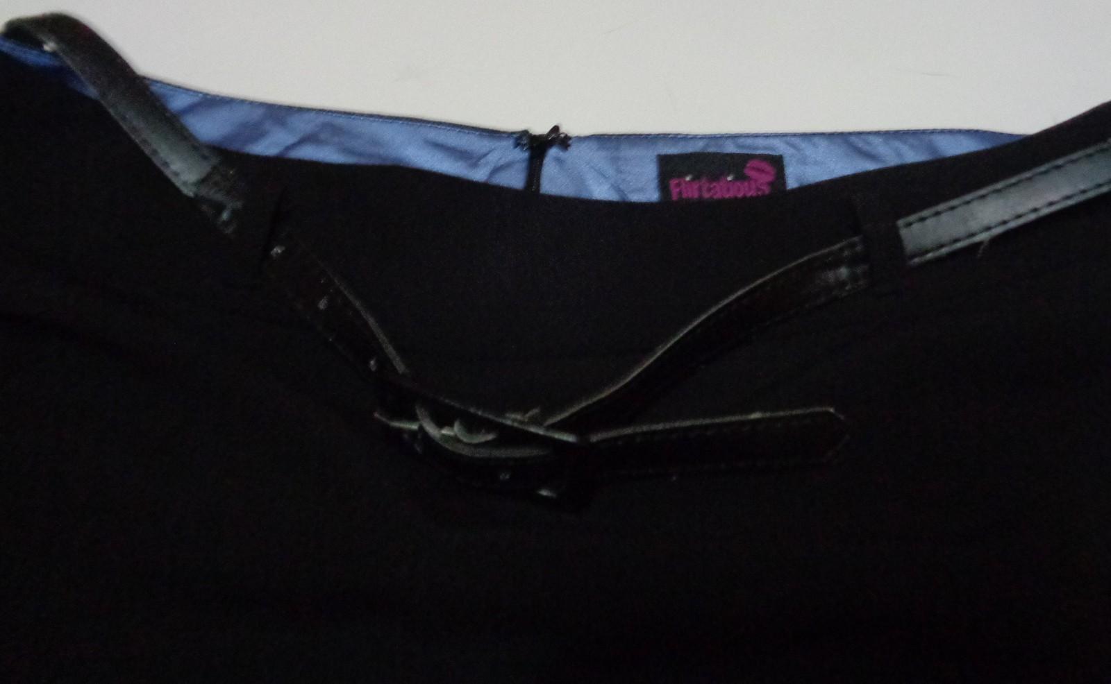 Women's Black Skirt NWT FLIRTATIOUS SZ 11 Belted