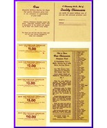 1950's Grocery Store Redemption Coupons & Premium Card, Alliance China C... - $4.50