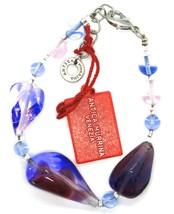 Bracelet Antica Murrina Venezia,Glass Murano,BR513A06,Drops,Purple Light Blue image 2