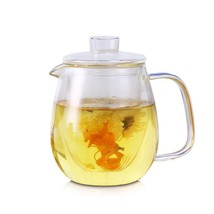 Glass Pitcher With Lid & Infuser - Borosilicate Glass Carafe 40oz/1200ml... - £26.54 GBP