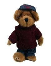 """Boyds Bears Leo Bruinski 10"""" Retired Bear #918320 Burgundy Sweater Hat Jeans - $7.91"""