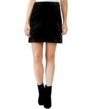 RACHEL Rachel Roy Womens Velvet A-Line 2-Pocket Skirt 4 Solid Black $89 - $17.42