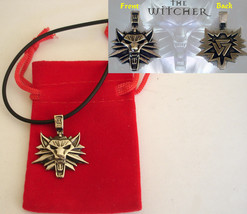 The Witcher inspired Geralt Wolf Pendant 3 x 2.5 cm sterling silver .925 - $19.79