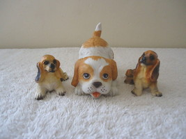 """Vintage Mixed Lot Of 3 Collectable Dogs Figurines,1,Homco # 1407,2,Others """" GREA - $15.88"""