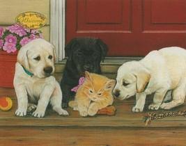 Julie Bauknecht Cats Rule Kitten Puppy 100 pc Bagged Boxless Jigsaw Puzzle - $9.90