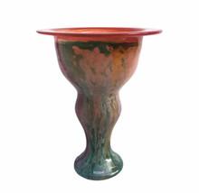 """Kosta Boda Cancan Can Can Multi Art Glass Vase Signed Kjell Engman Large 11"""" - $140.21"""