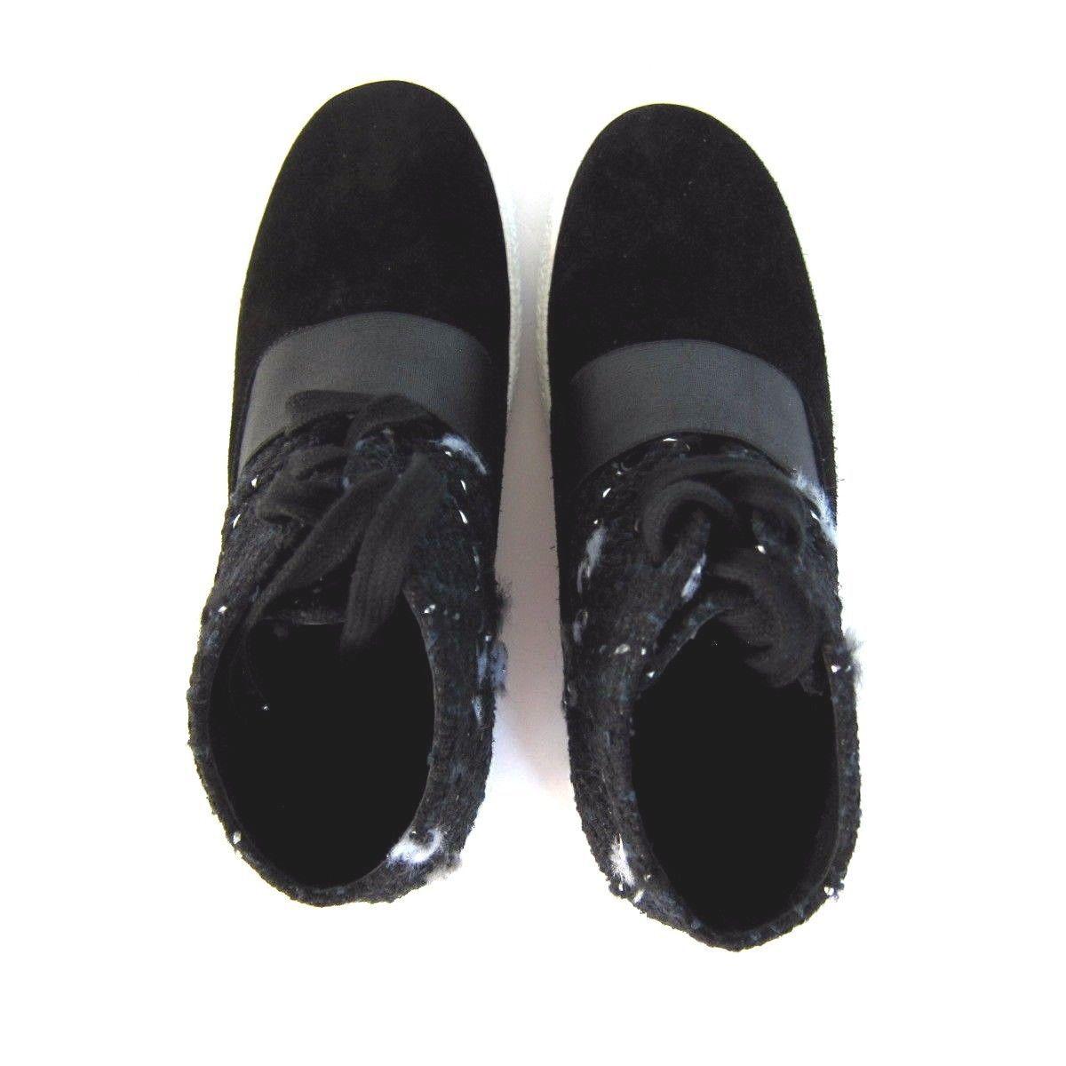 a8148f4e27ec J-2419310 New Chanel Black Tweed Hi-Top Sneakers Size 37.5 US 7.5