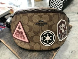 Coach x Star Wars Belt Bag Fanny Pack Sling In Signature Canvas with Pat... - $137.61