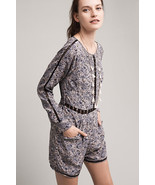 NWT ANTHROPOLOGIE HETTIE LACE FLORAL ROMPER by RANNA GILL M - $79.99