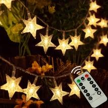 kingleder 25ft 50 LED Xmas Star Light Fairy String Light w/Remote for Ch... - €13,81 EUR