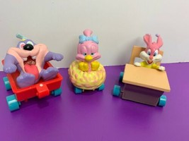 Lot of 3 Applause Tiny Toon Figures Vehicles Sweetie Babs Bunny Dizzy Devil 1990 - $19.79
