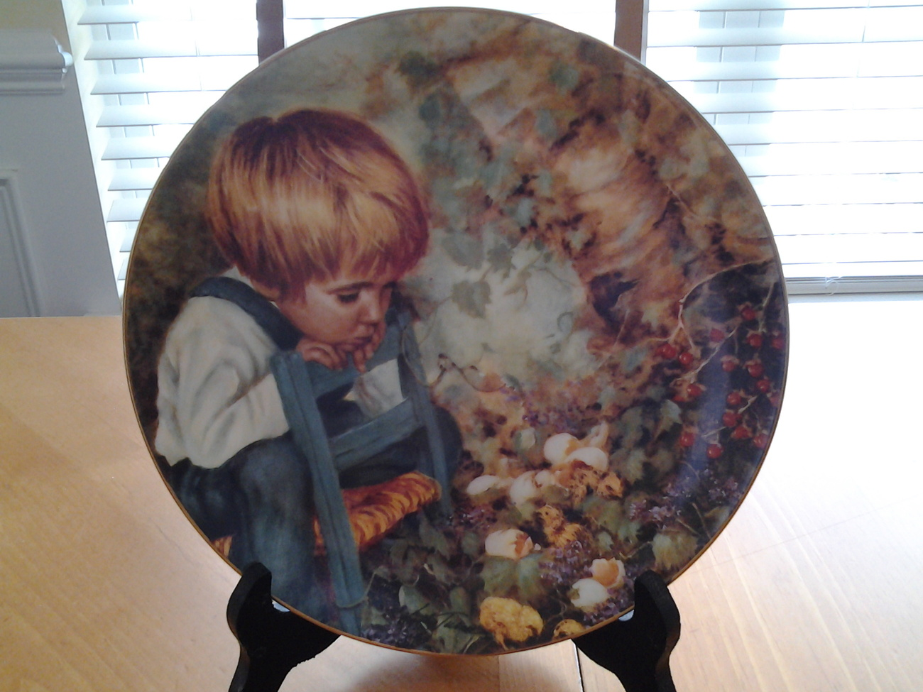 """Michaels Miracle from Real People Series Collector Plate 8.5"""" Diameter"""