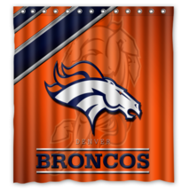 Denver Broncos 15 Shower Curtain Waterproof Polyester Fabric For Bathroom  - $33.30+
