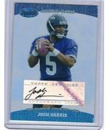 2004 Bowman's Best #136 Josh Harris Rookie Card Auto  - $14.68