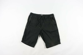 Vintage 90s Gap Mens Medium Casual Distressed Summer Cotton Shorts Black... - $34.60