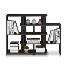 Stylish Modern Design 5 Tier Home Office Storage Shelf Espresso/Black Fi... - $48.09