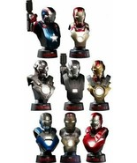 Hot Toys 1/6 Scale Bust Iron Man 3 Deluxe Set mark 42 Battle Damage Version - $394.02