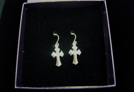 Silver Cross Earrings # 4213 Brand New, Free 1st Class Shipping in USA - $9.95