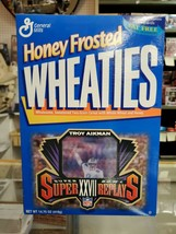 Dallas Cowboys Troy Aikman Super Bowl XXVII Honey Frosted Wheaties Cerea... - $19.79