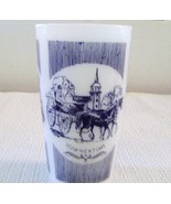 Vintage Hazel Atlas Milkglass Currier & Ives Drinking Glass - $15.00