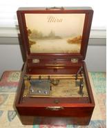 "Swiss Music Box Antique ""Mira"" by Mermod Freres 7"" Wood Box - $403.75"