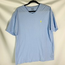 Polo Ralph Lauren  Men's T-Shirt large vee neck  Short Sleeve light blue - $14.24