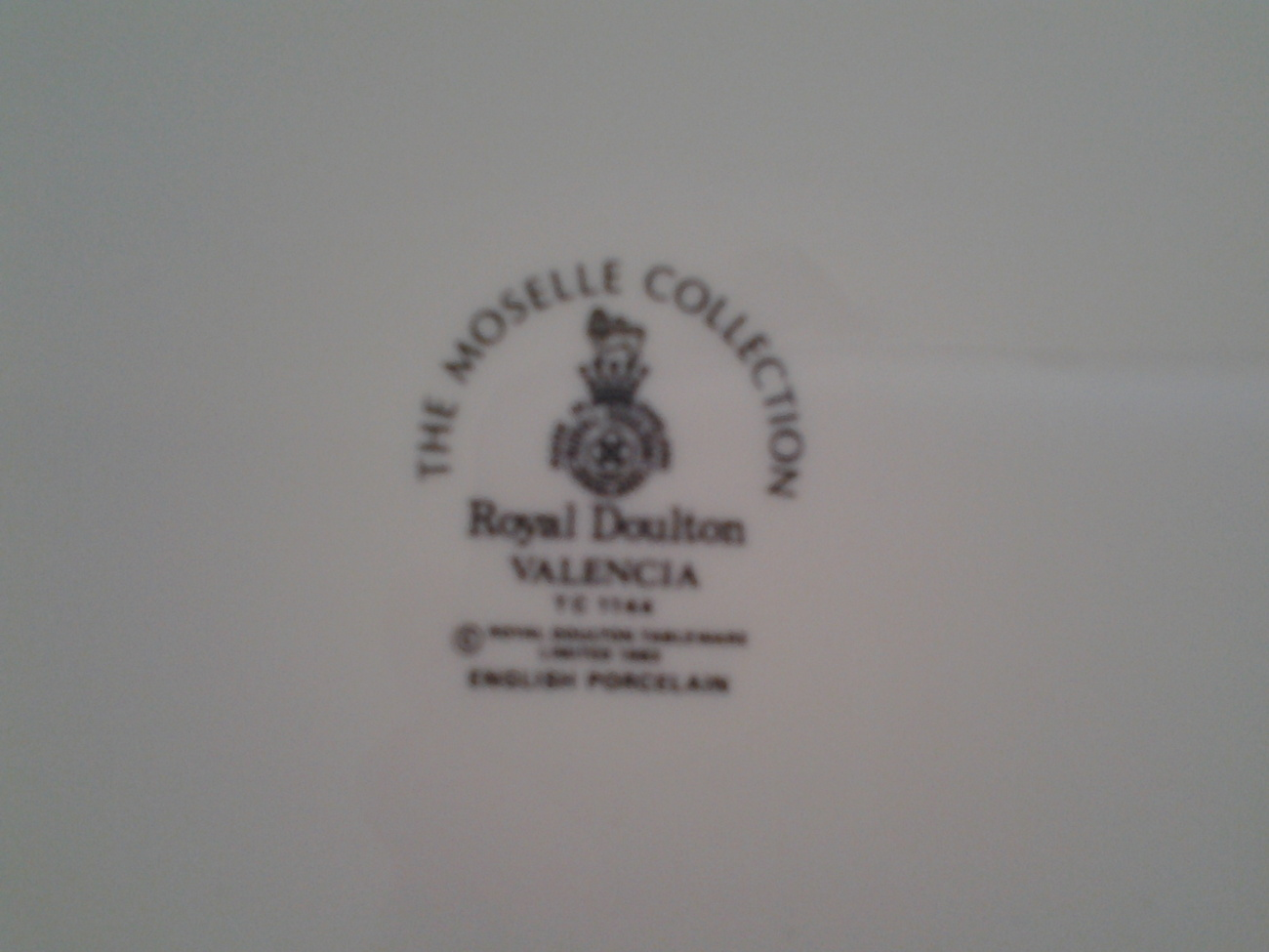 "Royal Doulton Valencia Dinner Plate 1983-1988, Fine China Dinnerware 10.75"""