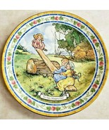 Royal Doulton Nursery Rhymes Collector Plate See-Saw Margery Daw Neil Fa... - $46.75