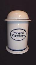 Wonderful Copenhagen Canister Jar And Lid Dansk Bistro Blue & White - $24.70