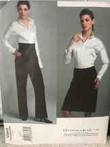 Vogue Sewing Pattern DKNY 2813 Shirt Skirt Pants 6 8 10 Donna Karan Uncu... - $17.12